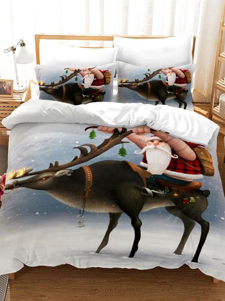 Milanoo Bedding Set Quality 3-Piece Polyester Fiber Christmas