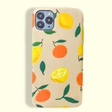Funda de iphone con estampado de mandarina y limon