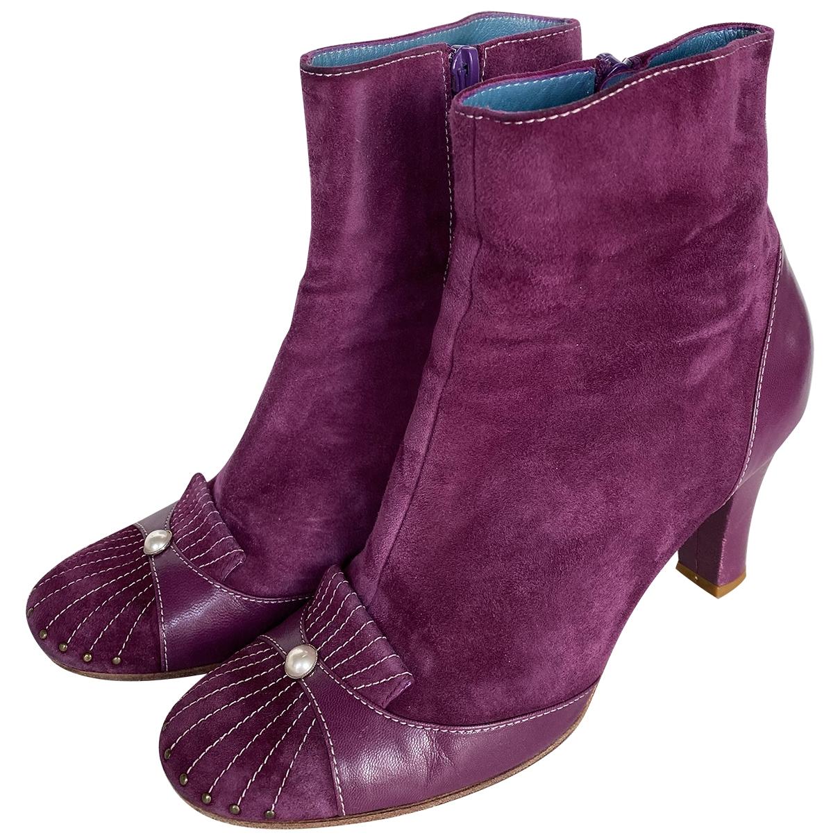 Marc Jacobs - Boots   pour femme en suede - violet
