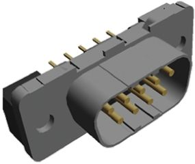 TE Connectivity Amplimite HDP-20 Series, 9 Way Through Hole PCB D-sub Connector Plug, 2.74mm Pitch