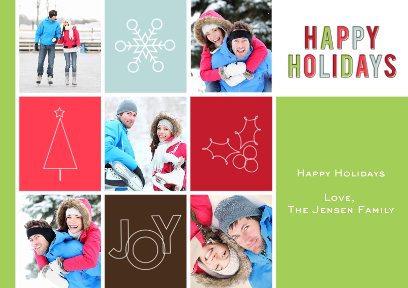 Christmas Photo Cards Flat Glossy Photo Paper Cards with Envelopes, 5x7, Card & Stationery -Symbolic Holiday