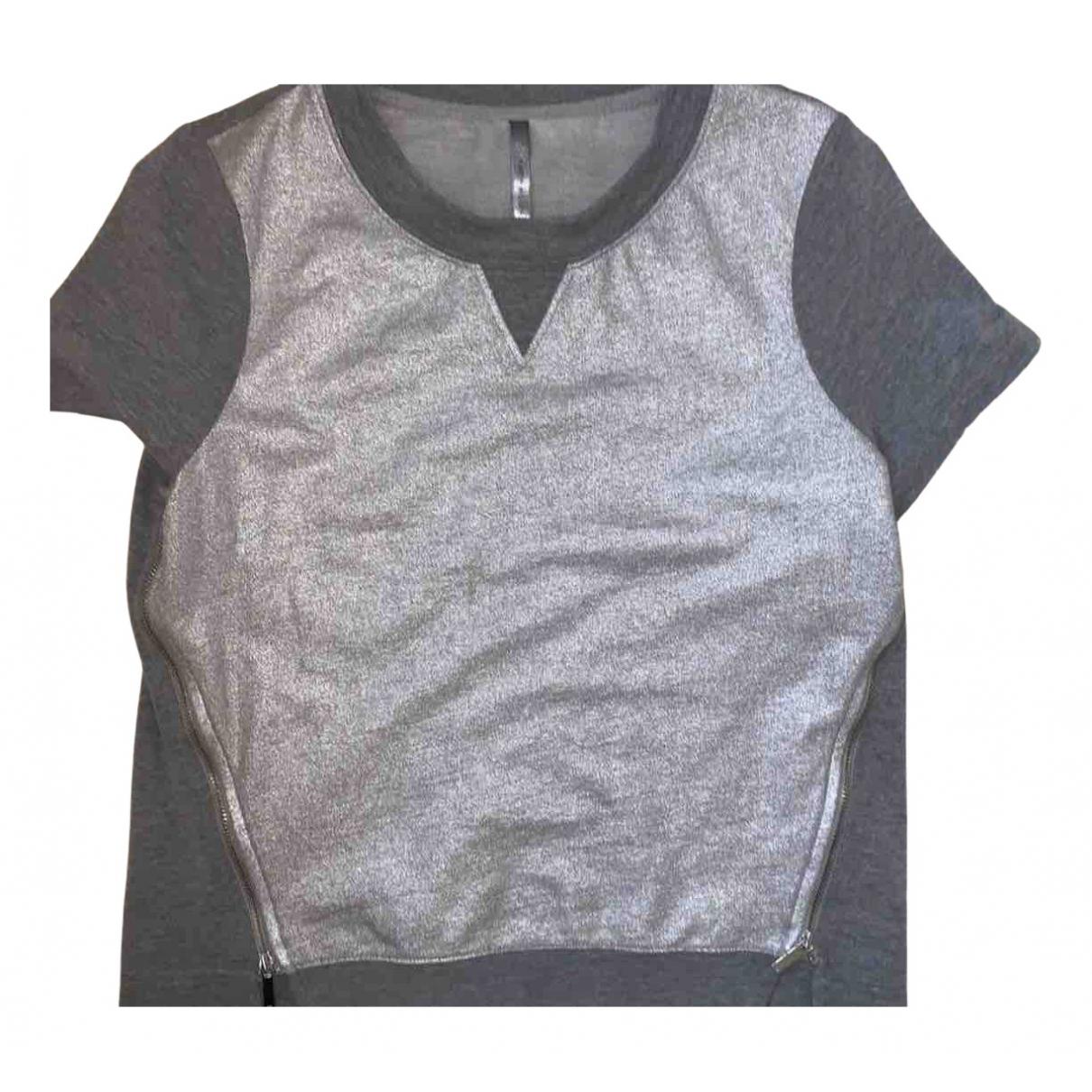 Karen Millen - Top   pour femme en coton - gris