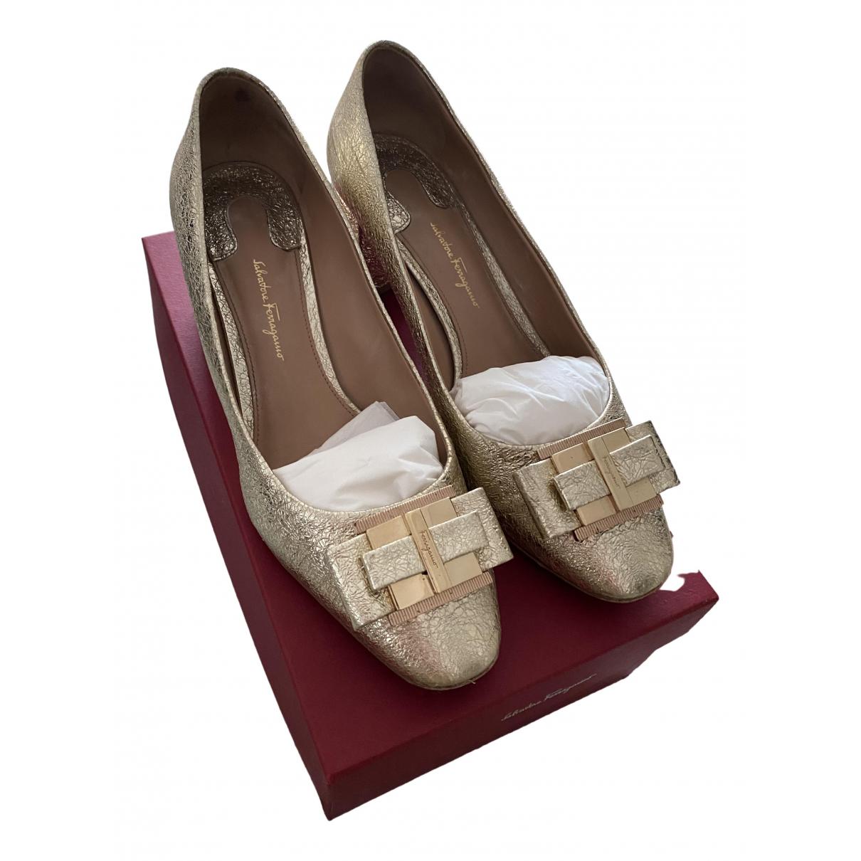 Salvatore Ferragamo \N Metallic Leather Heels for Women 41.5 EU