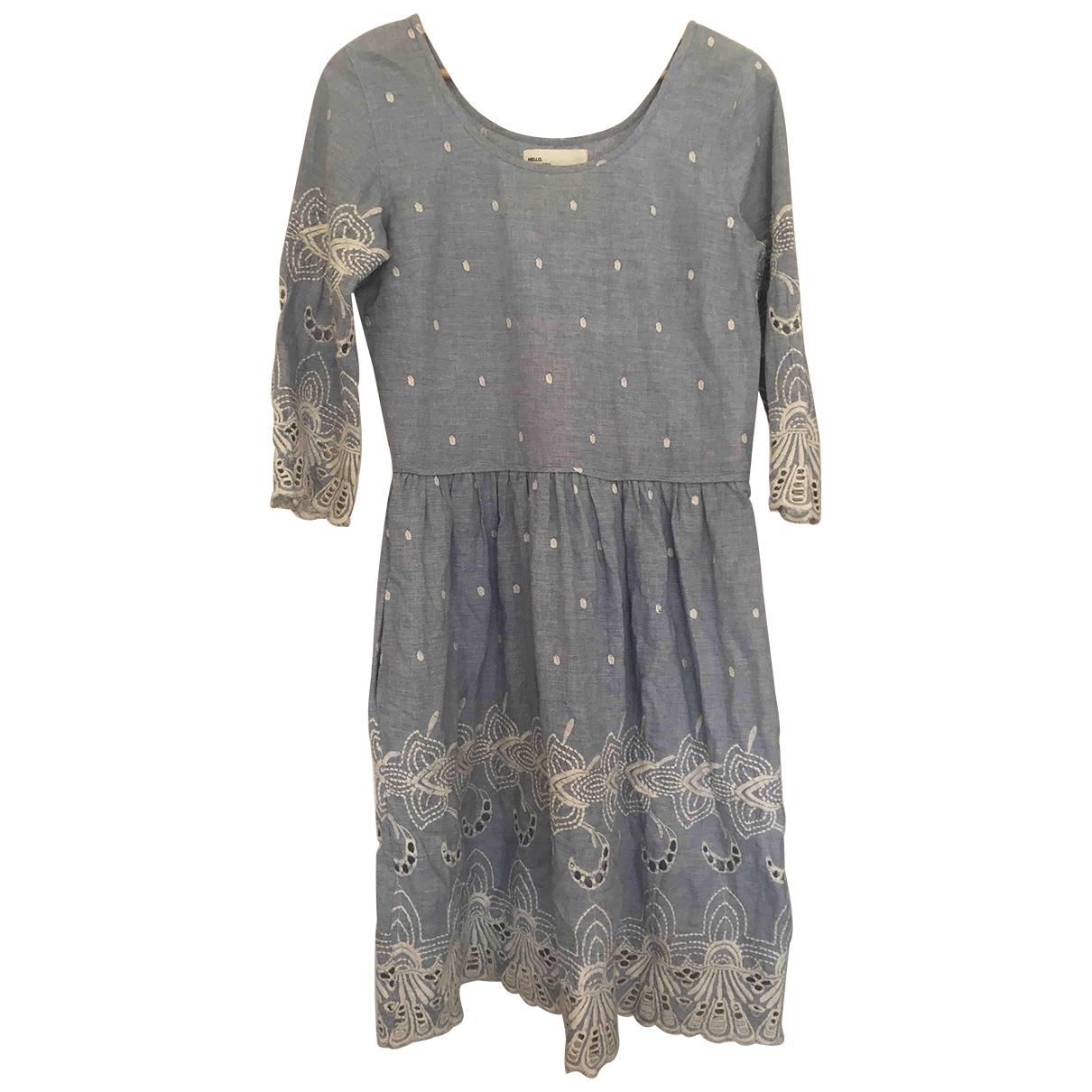 Leon & Harper \N Kleid in  Blau Baumwolle
