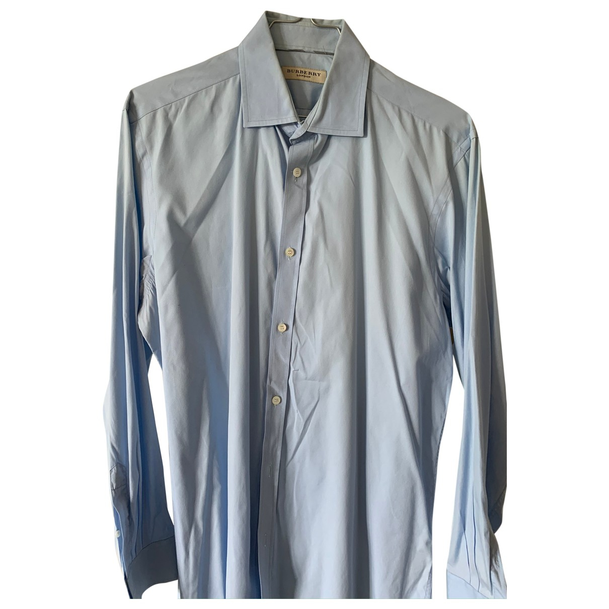 Burberry \N Blue Cotton Shirts for Men 41 EU (tour de cou / collar)