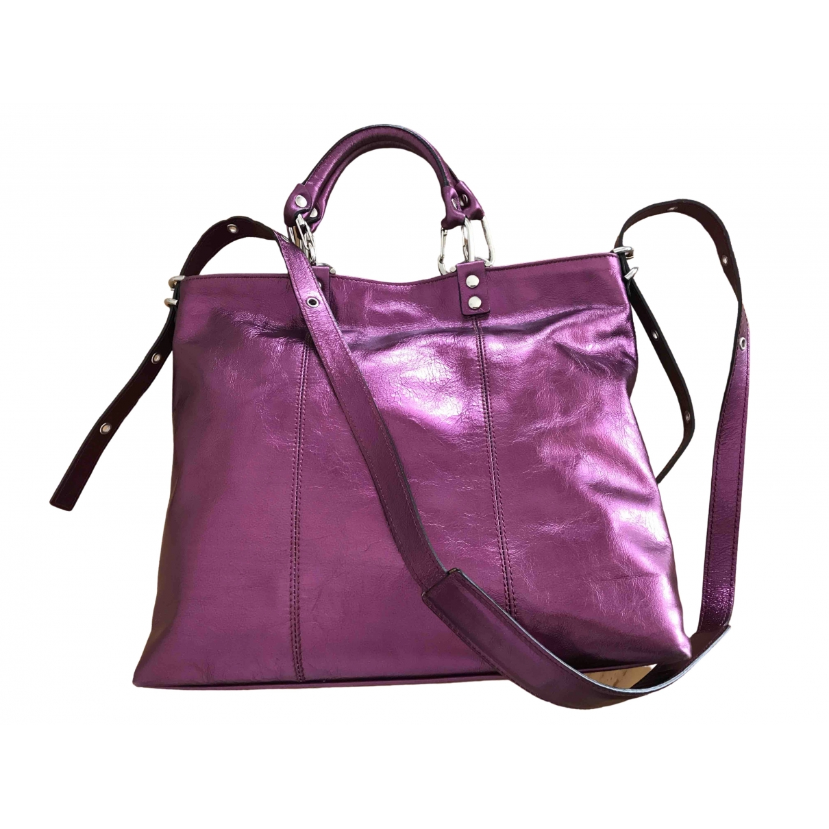 Non Signé / Unsigned \N Metallic Leather handbag for Women \N