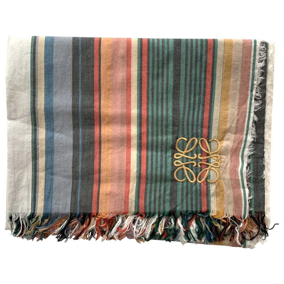 Loewe \N Multicolour Cotton scarf for Women \N
