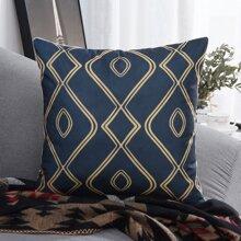 Geometric Pattern Print Cushion Cover