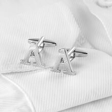 Guys Letter Decor Cufflinks and Tie Clips