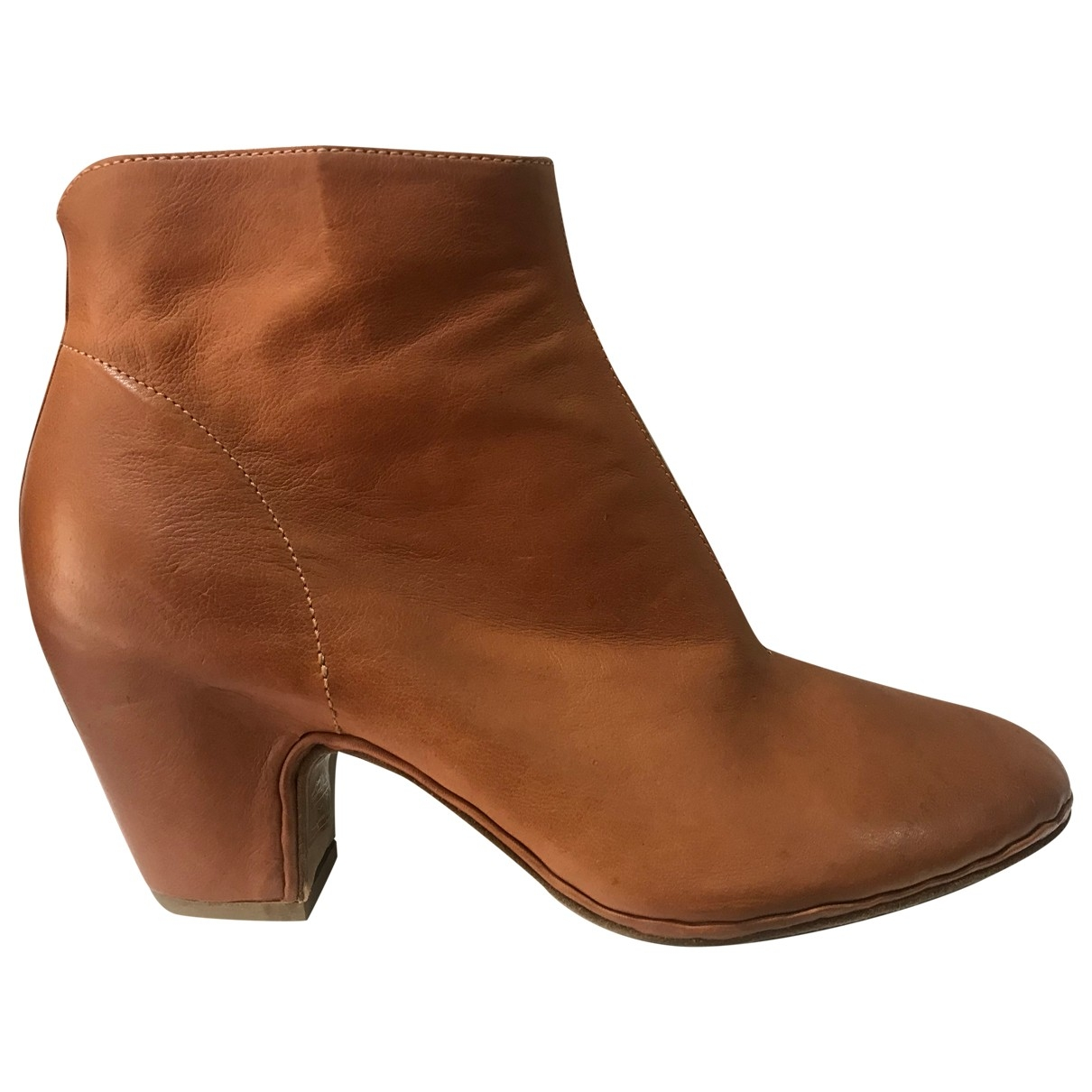 Officine Creative \N Camel Leather Ankle boots for Women 36 EU