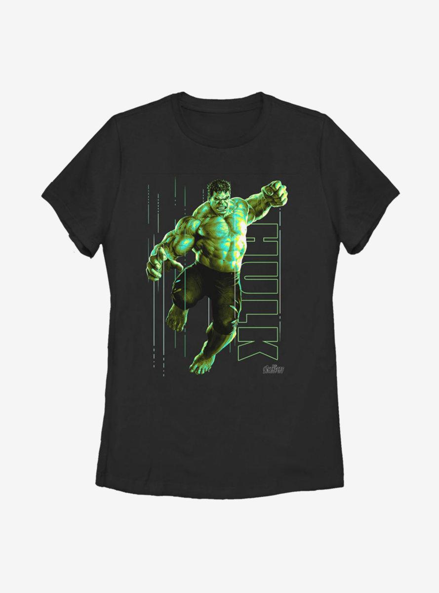 Marvel Hulk Glow Womens T-Shirt