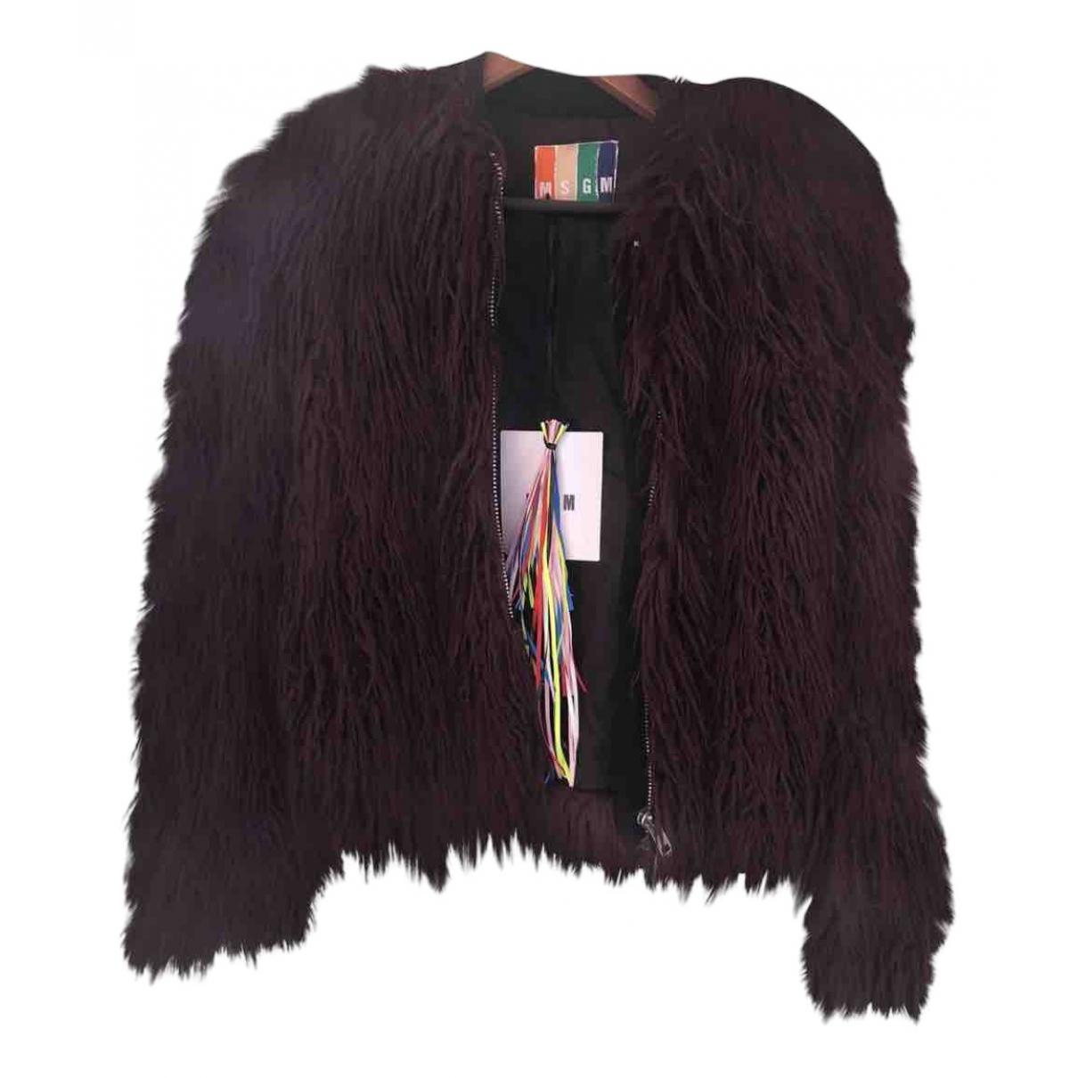Msgm N Purple jacket for Women 40 IT