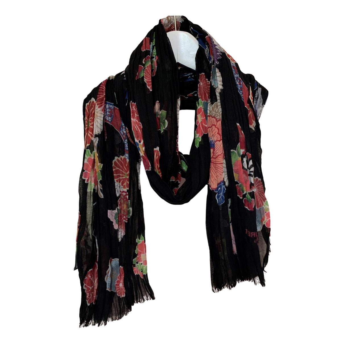 Saint Laurent - Foulard   pour femme en laine - noir
