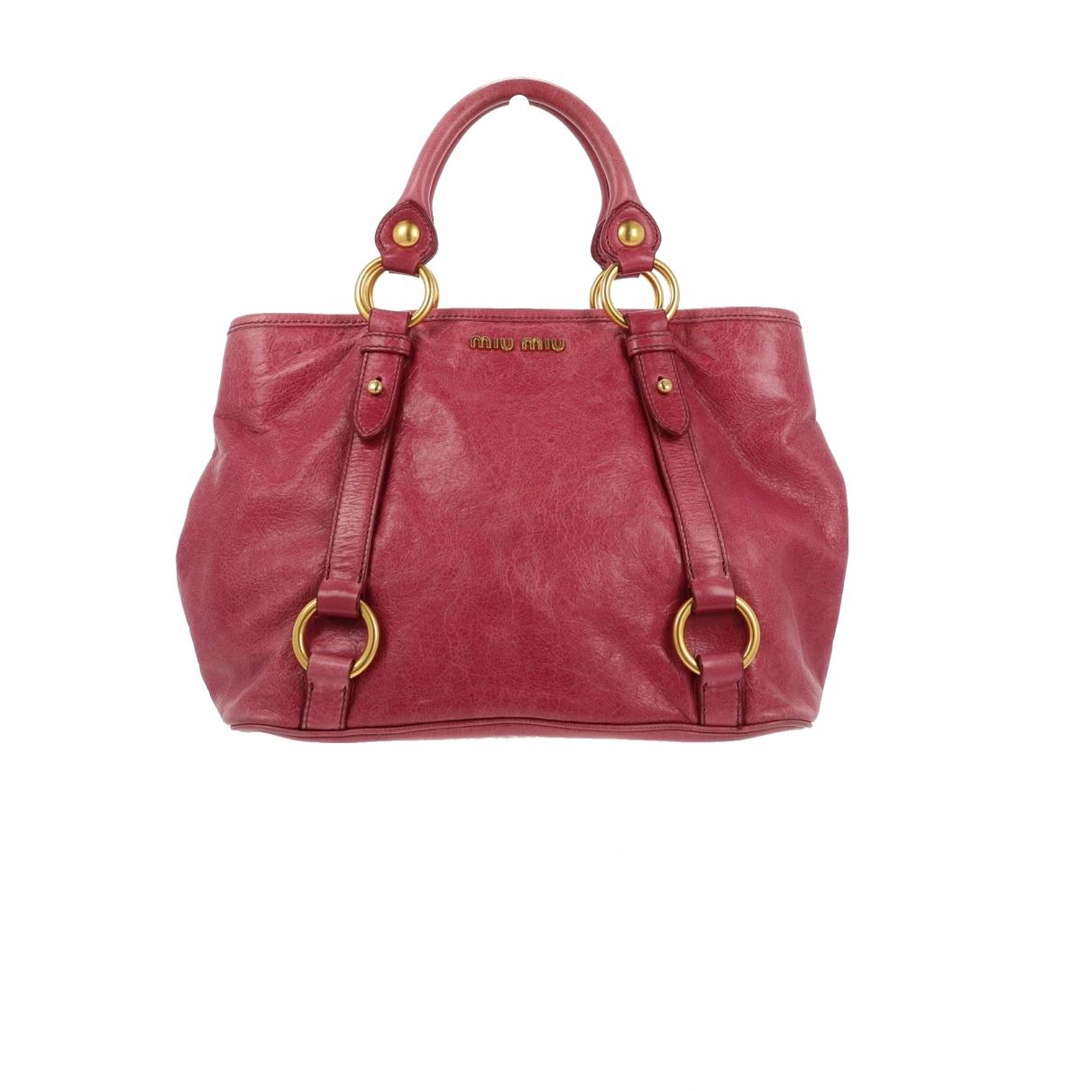 Miu Miu Bow bag Handtasche in  Rosa Leder