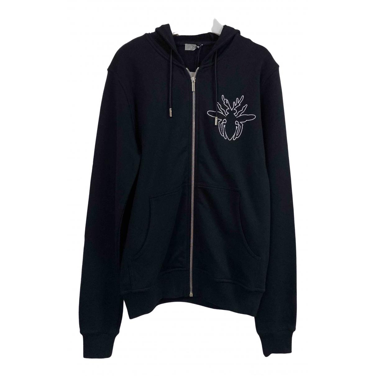Dior Homme \N Pullover.Westen.Sweatshirts  in  Schwarz Baumwolle