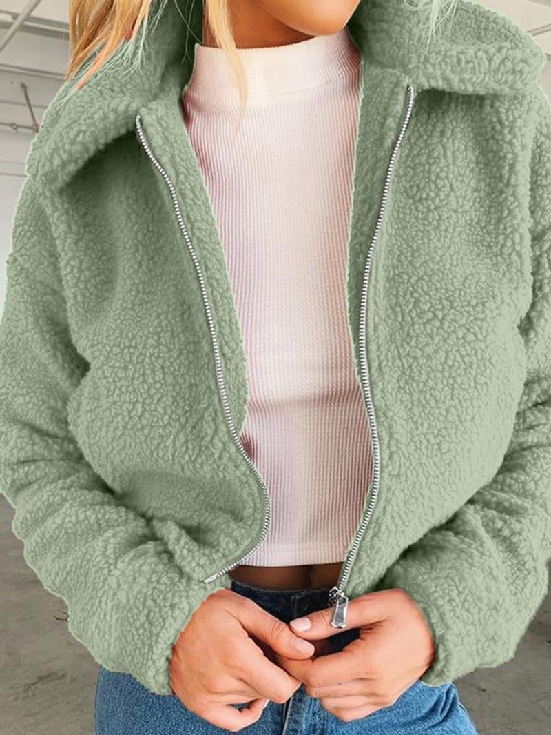 Ericdress Long Sleeve Loose Zipper Regular Lapel Jacket