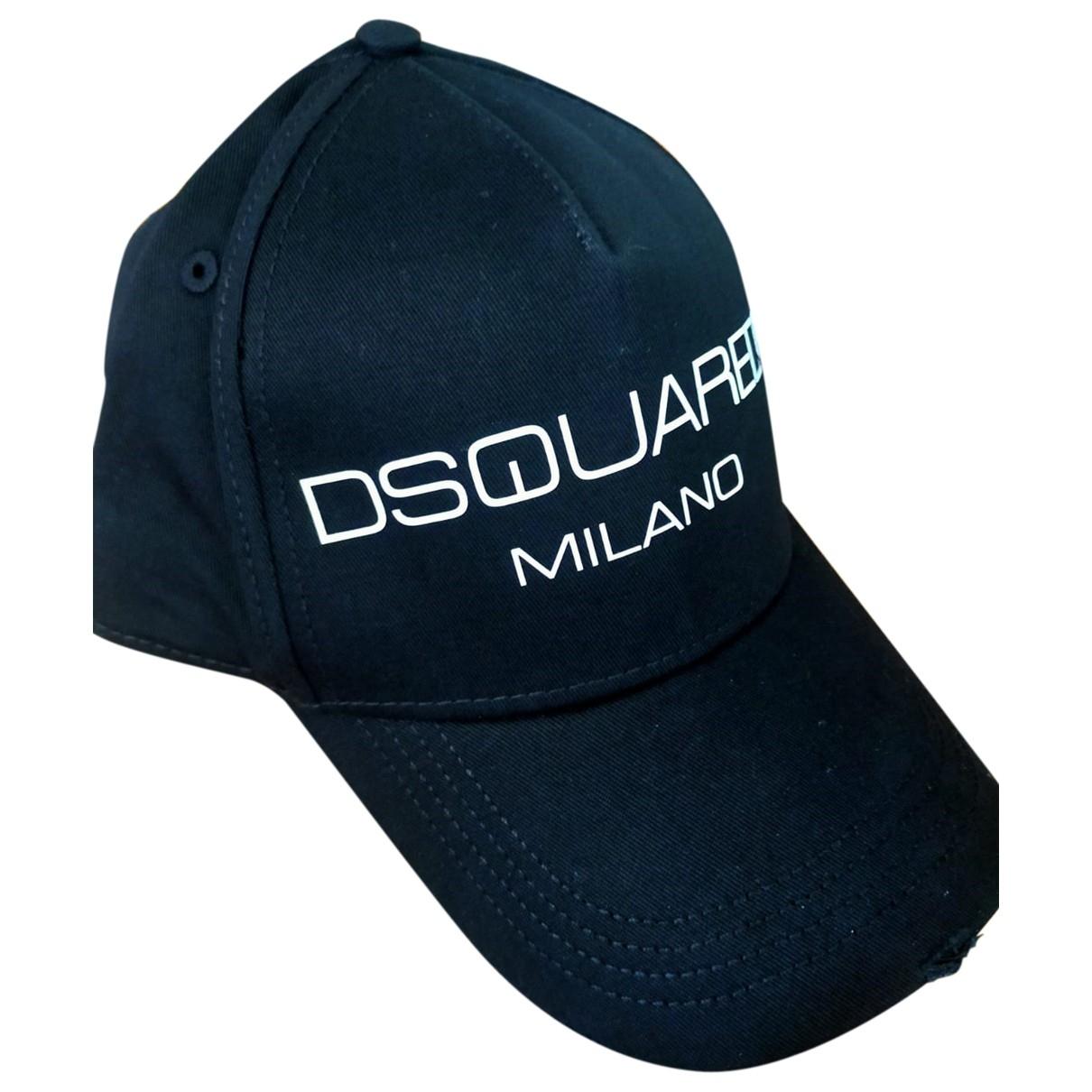 Dsquared2 \N Black Cotton hat & pull on hat for Men 54 cm