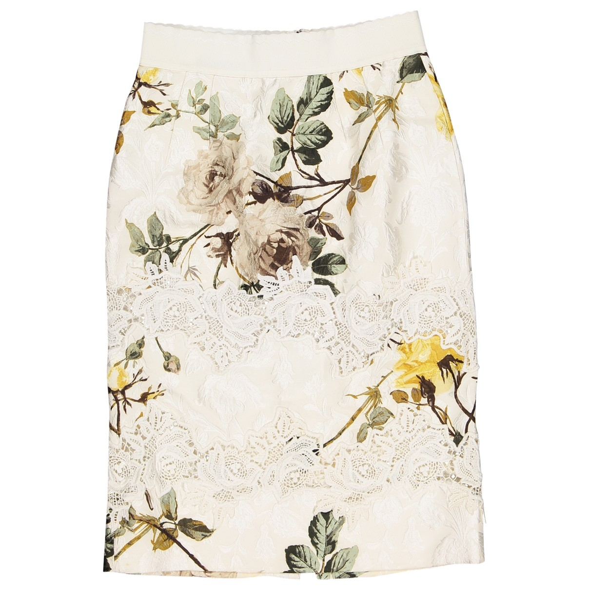 Dolce & Gabbana - Jupe   pour femme en soie - ecru