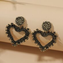 Heart Drop Vintage Earrings
