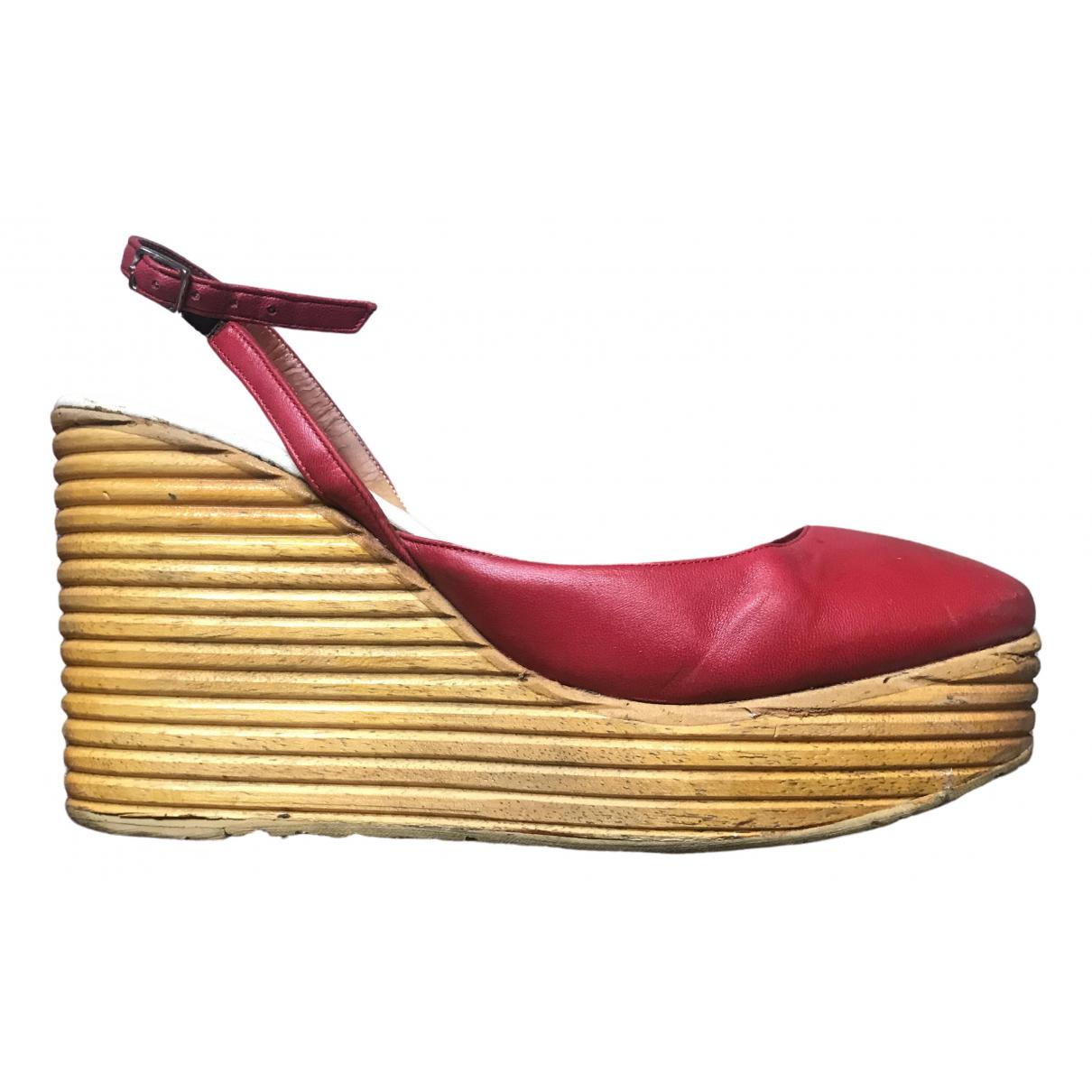 Maison Martin Margiela - Sandales   pour femme en cuir - rouge
