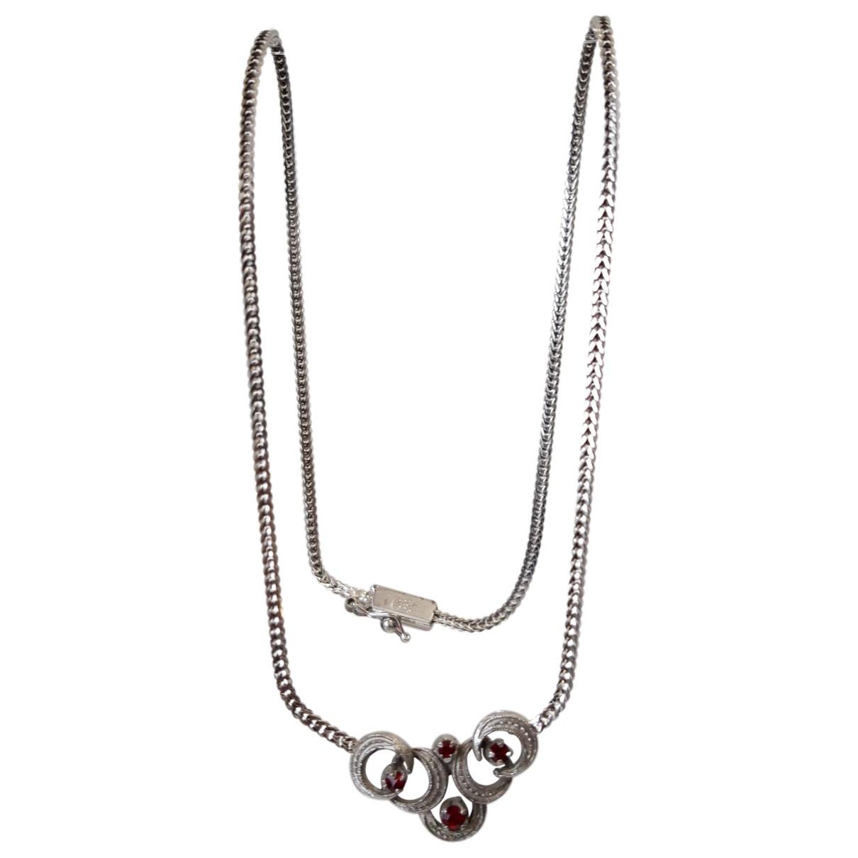 Non Signe / Unsigned Rubis Kette in  Silber Silber