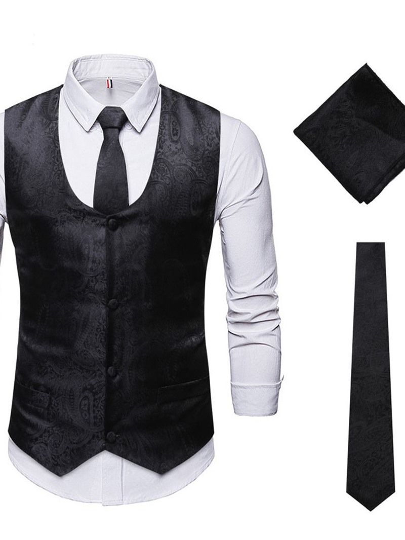 Ericdress Single-Breasted Casual Plain Men's Dress Suit