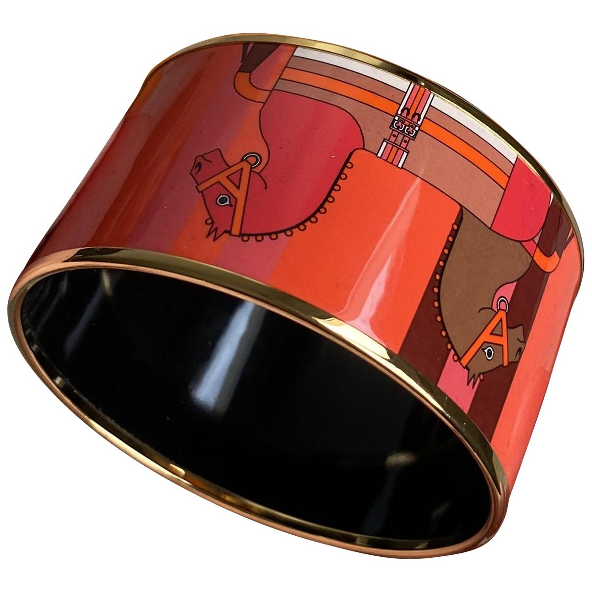 Hermes Bracelet Email Armband in  Bunt Rosegold