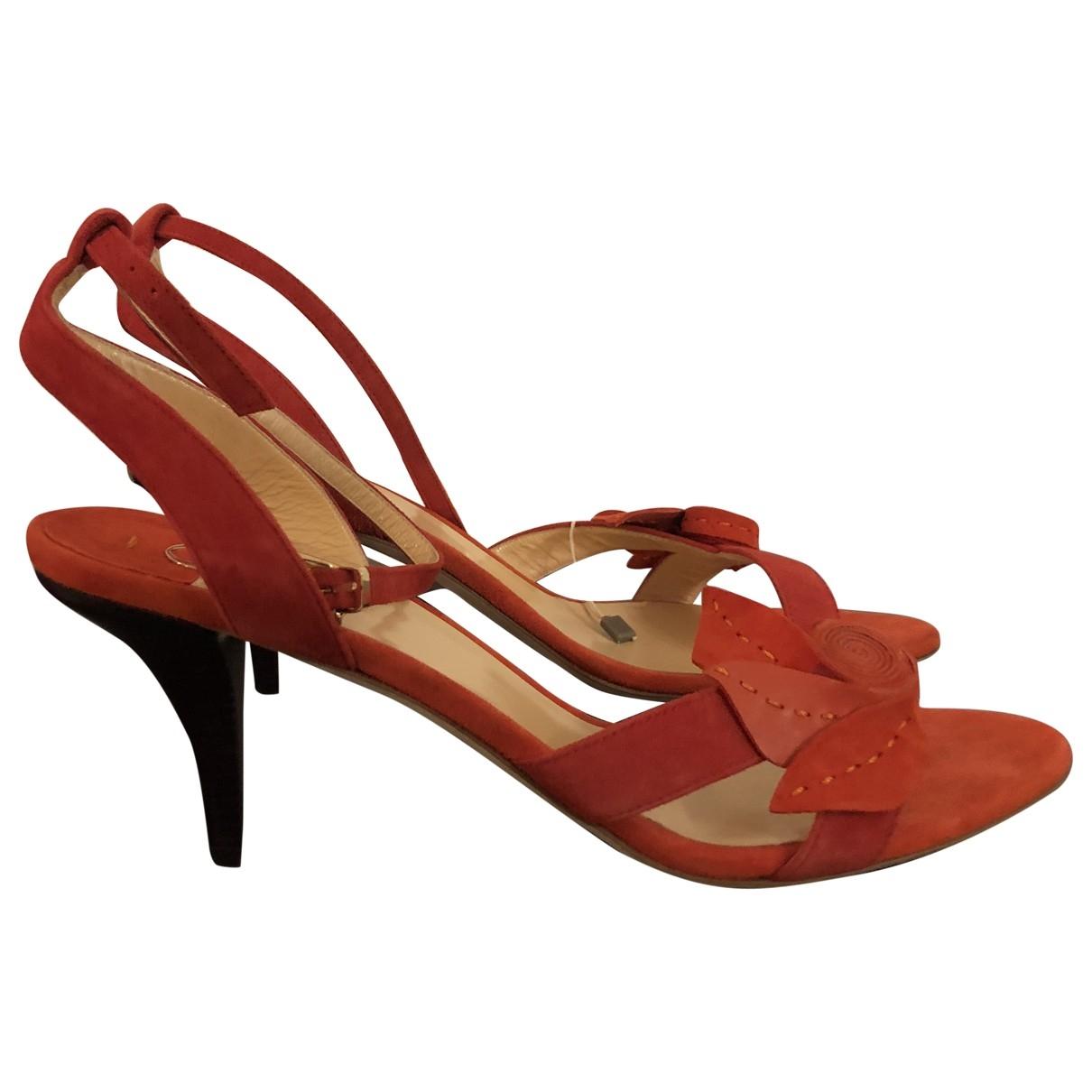O Jour \N Orange Suede Sandals for Women 41 EU
