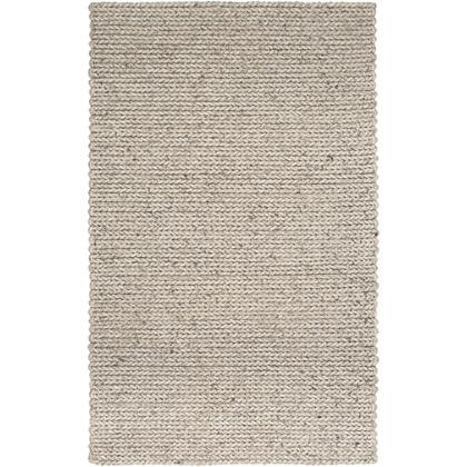 Anchorage ANC-1006 9' x 12' Rectangle Modern Rugs in Charcoal  Ivory  Dark