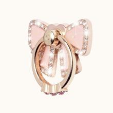 Anillo de celular en forma de lazo con diamante de imitacion