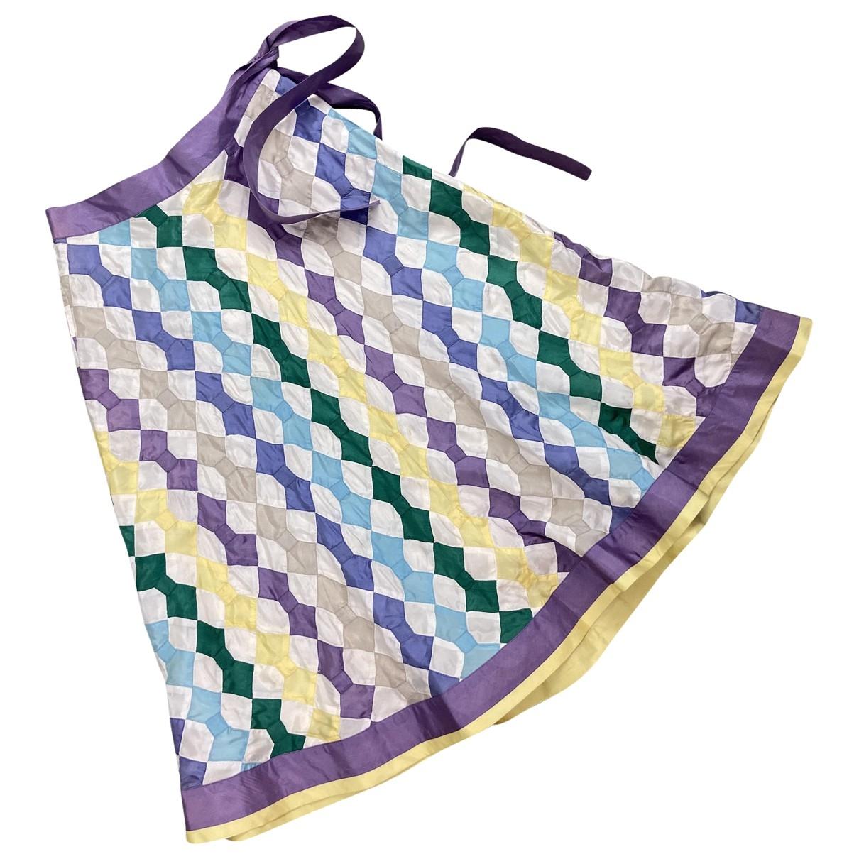 - Jupe Hippie Chic pour femme en soie - multicolore