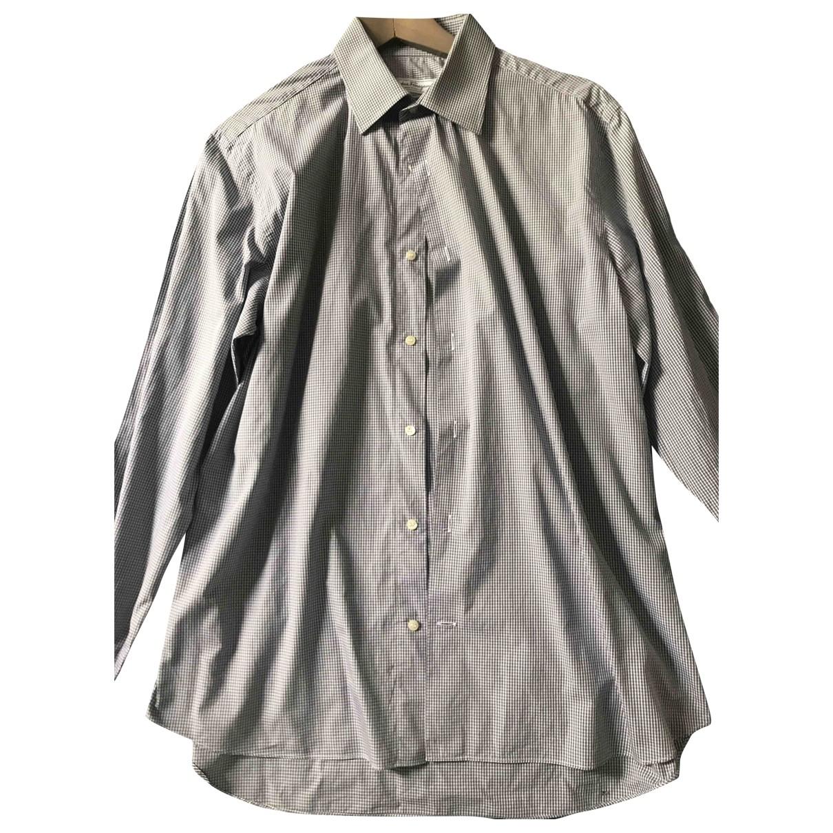 Salvatore Ferragamo - Chemises   pour homme en coton - gris