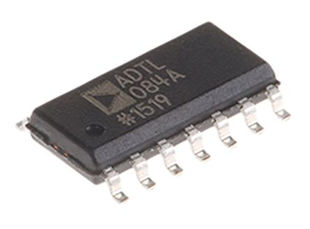 Analog Devices ADTL084ARZ , Op Amp, 5MHz, 14-Pin SOIC (5)
