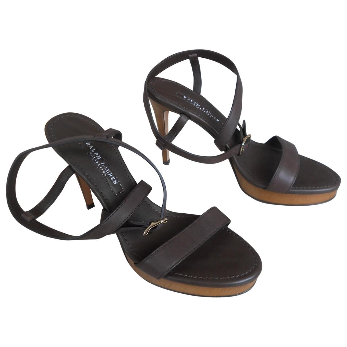 Sandalias de Cuero Ralph Lauren