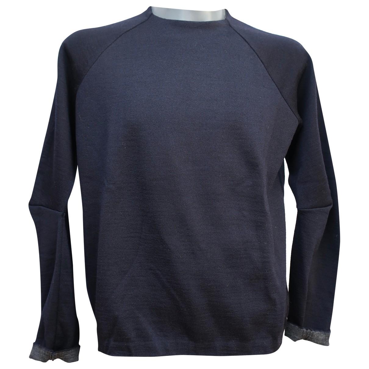 Prada \N Navy Wool Knitwear & Sweatshirts for Men 50 IT