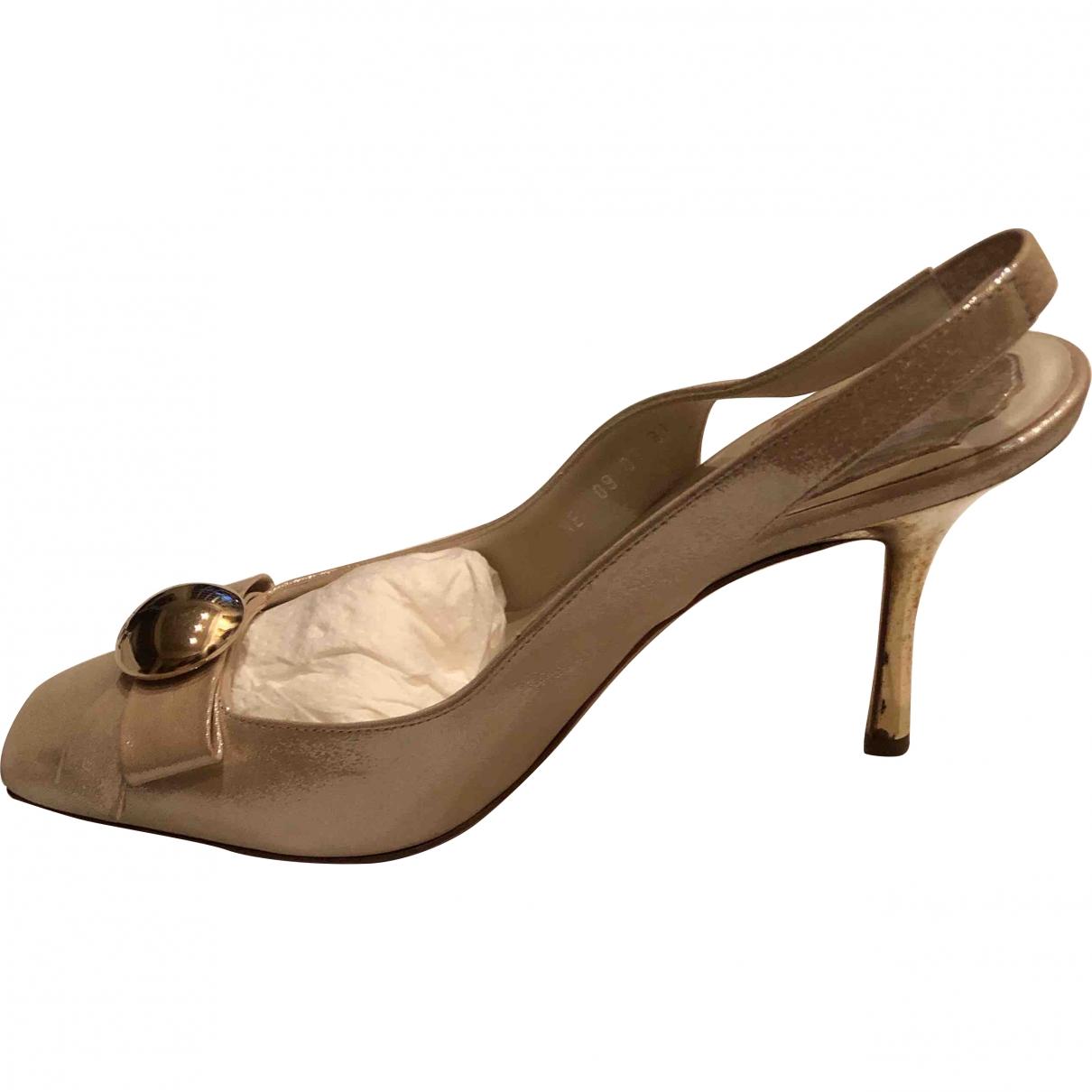 Dior - Escarpins   pour femme en a paillettes - beige