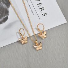 Schmuck Set mit Schmetterling Anhaenger