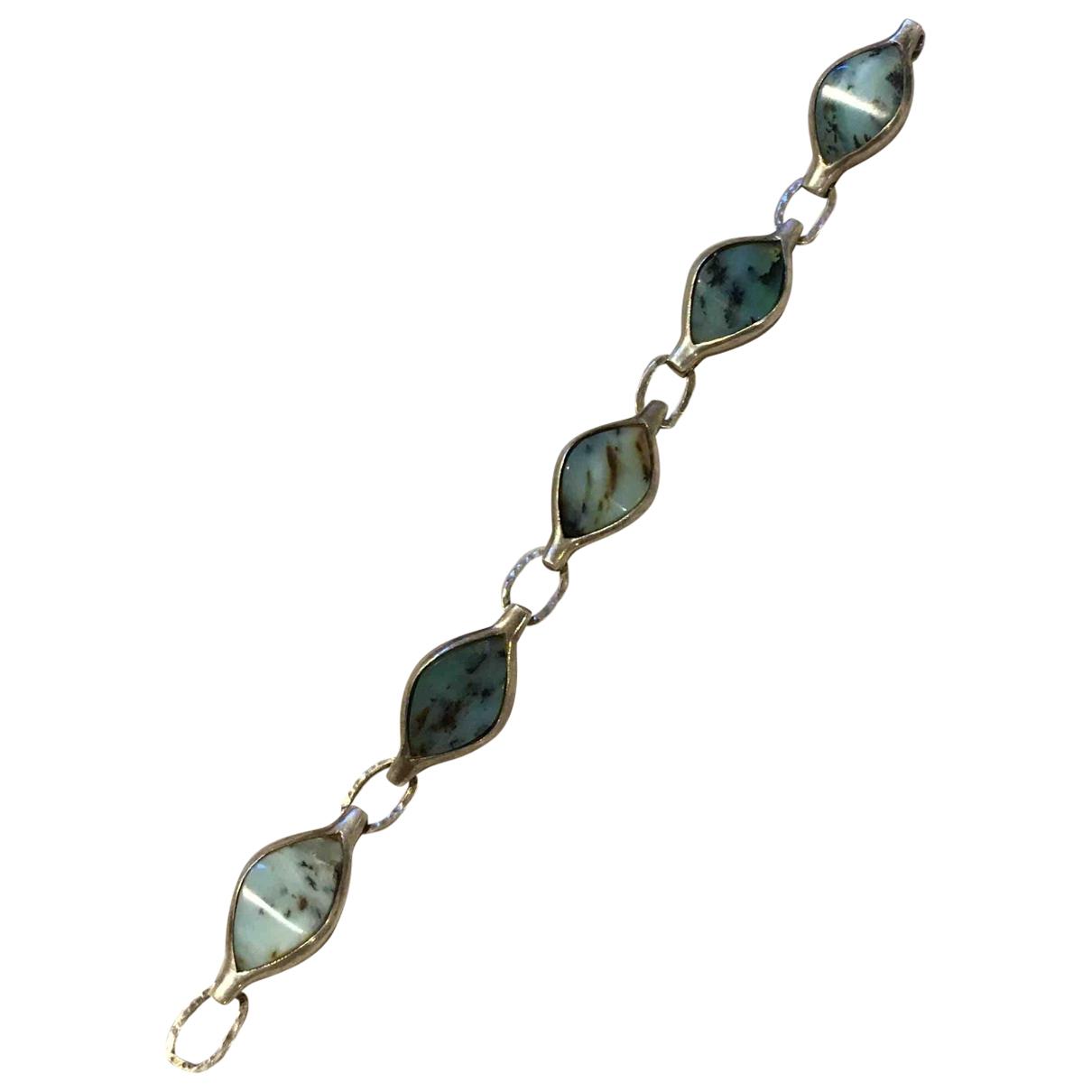 - Bracelet Agate pour femme en argent - bleu