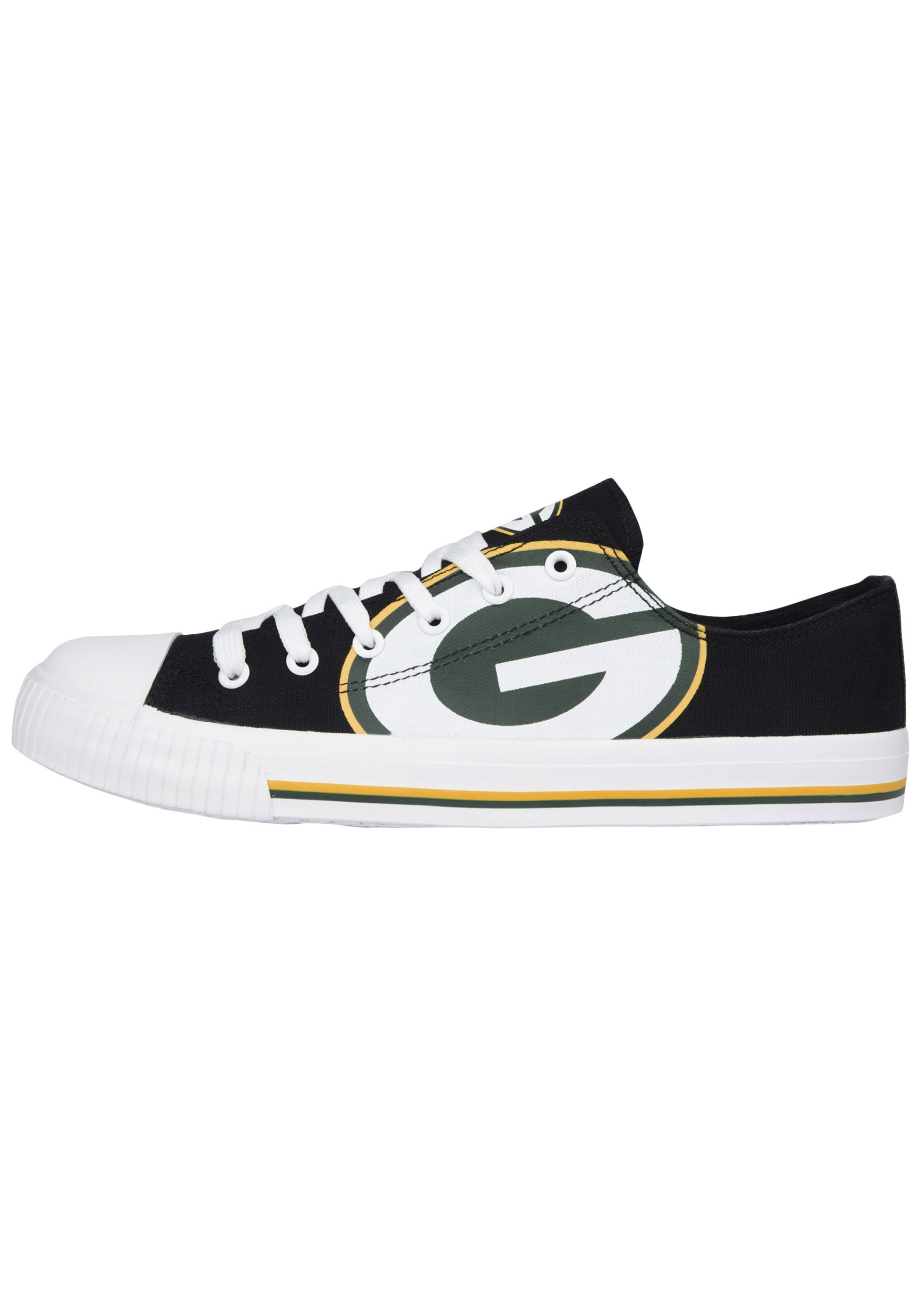 Green Bay Packers Low Top Canvas Youth Shoes