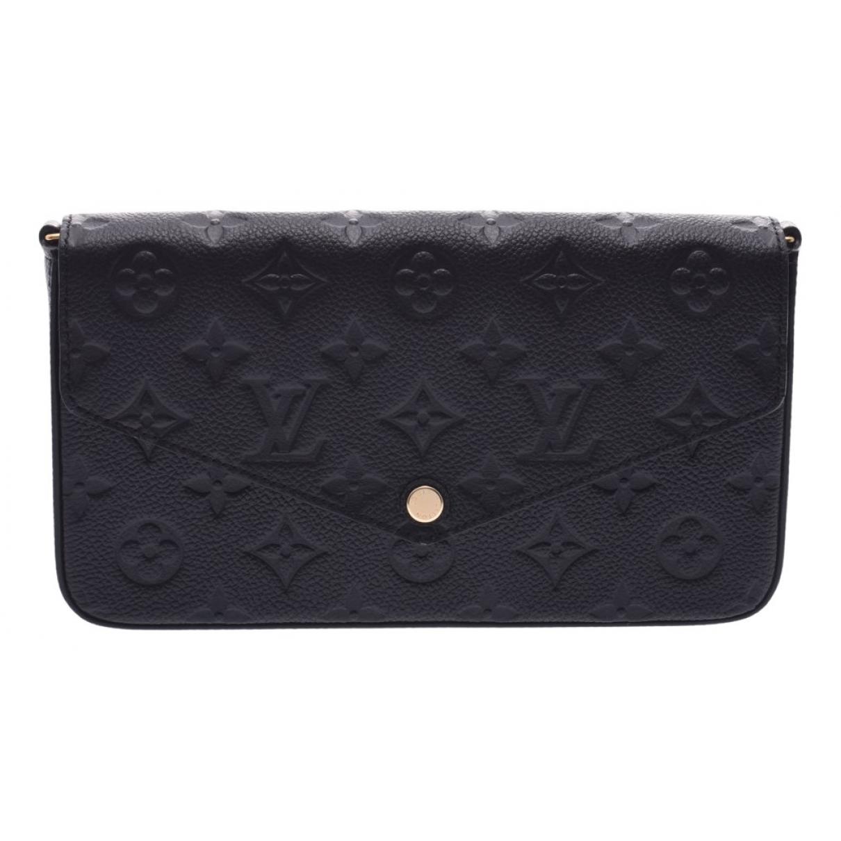 Louis Vuitton - Pochette Felicie pour femme en cuir - noir