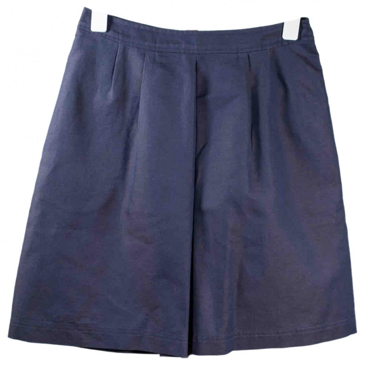 Apc \N Blue Cotton skirt for Women 34 FR