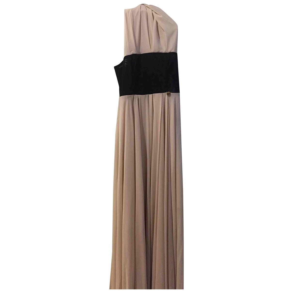 Mangano - Robe   pour femme en coton - elasthane - beige