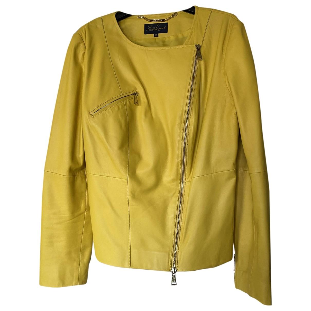 Non Signe / Unsigned \N Maentel in  Gelb Leder