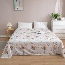 Flaches Bettuch mit Blumen Muster