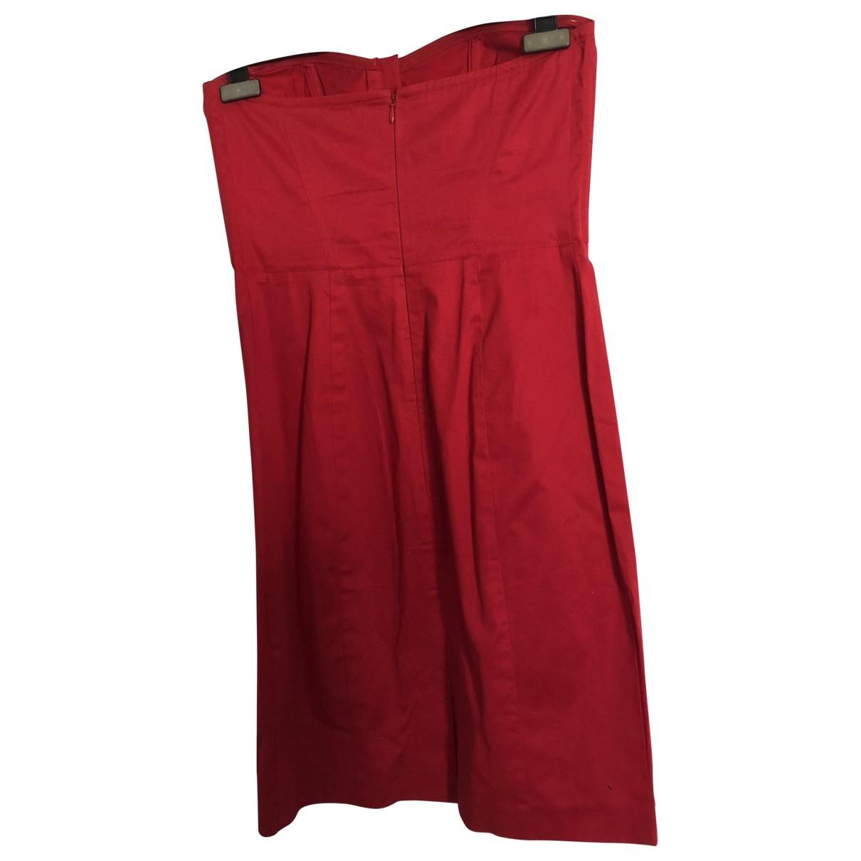 Tommy Hilfiger \N Kleid in  Rot Baumwolle - Elasthan