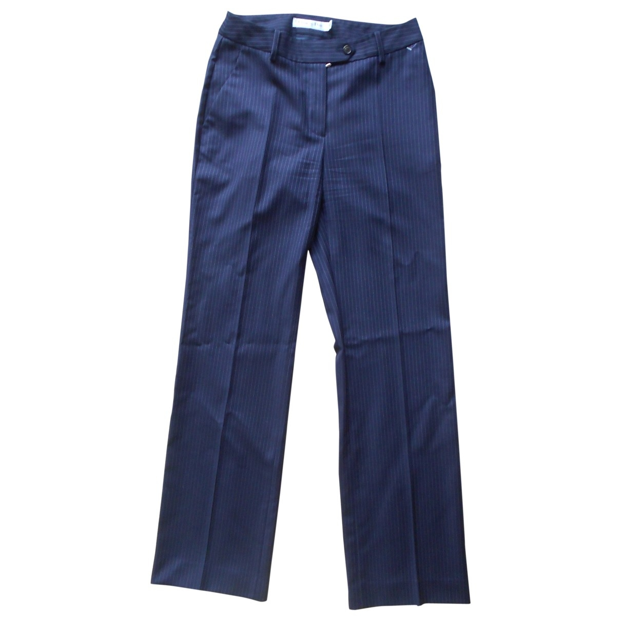 Dior \N Navy Wool Trousers for Women 36 FR
