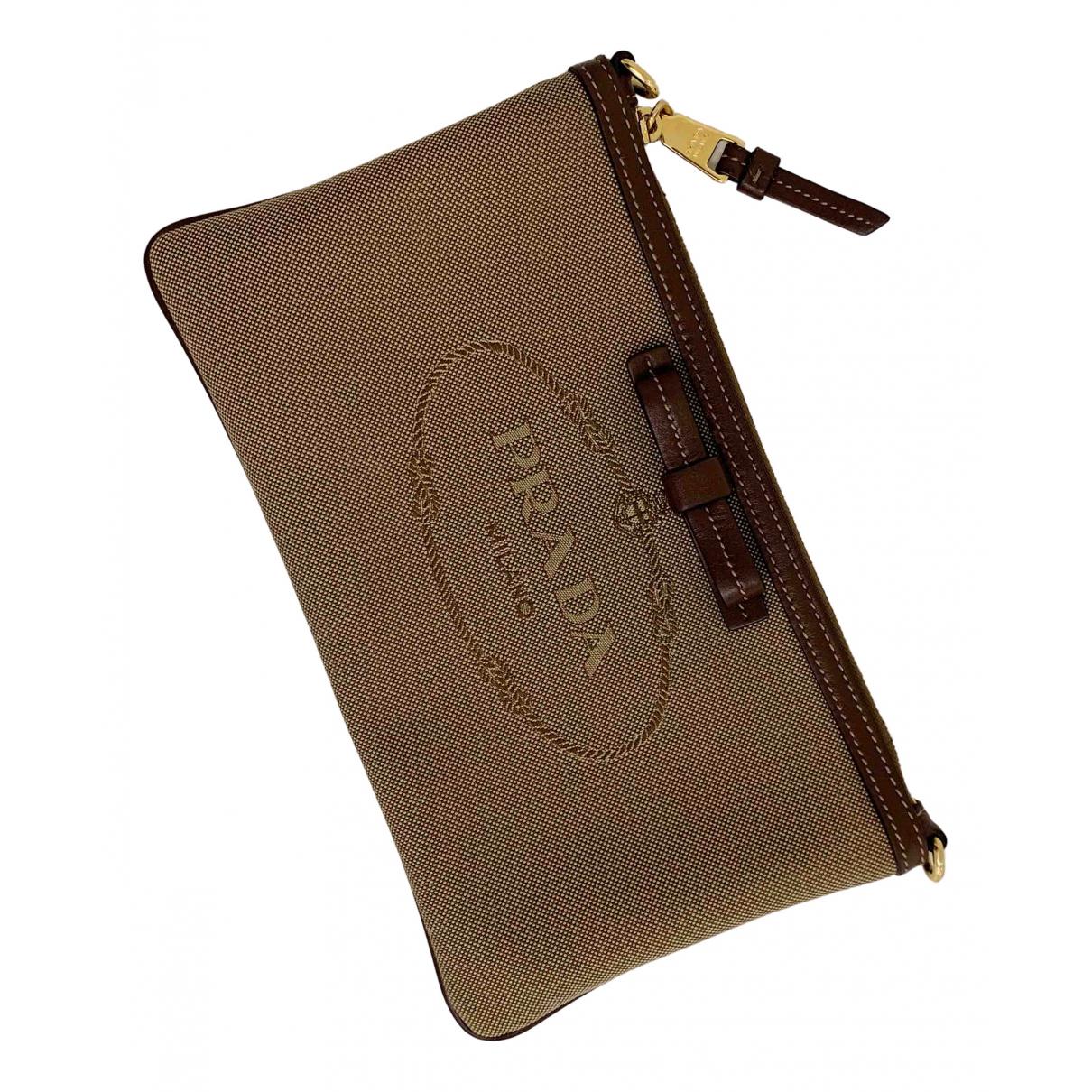 Prada \N Camel Cloth Clutch bag for Women \N
