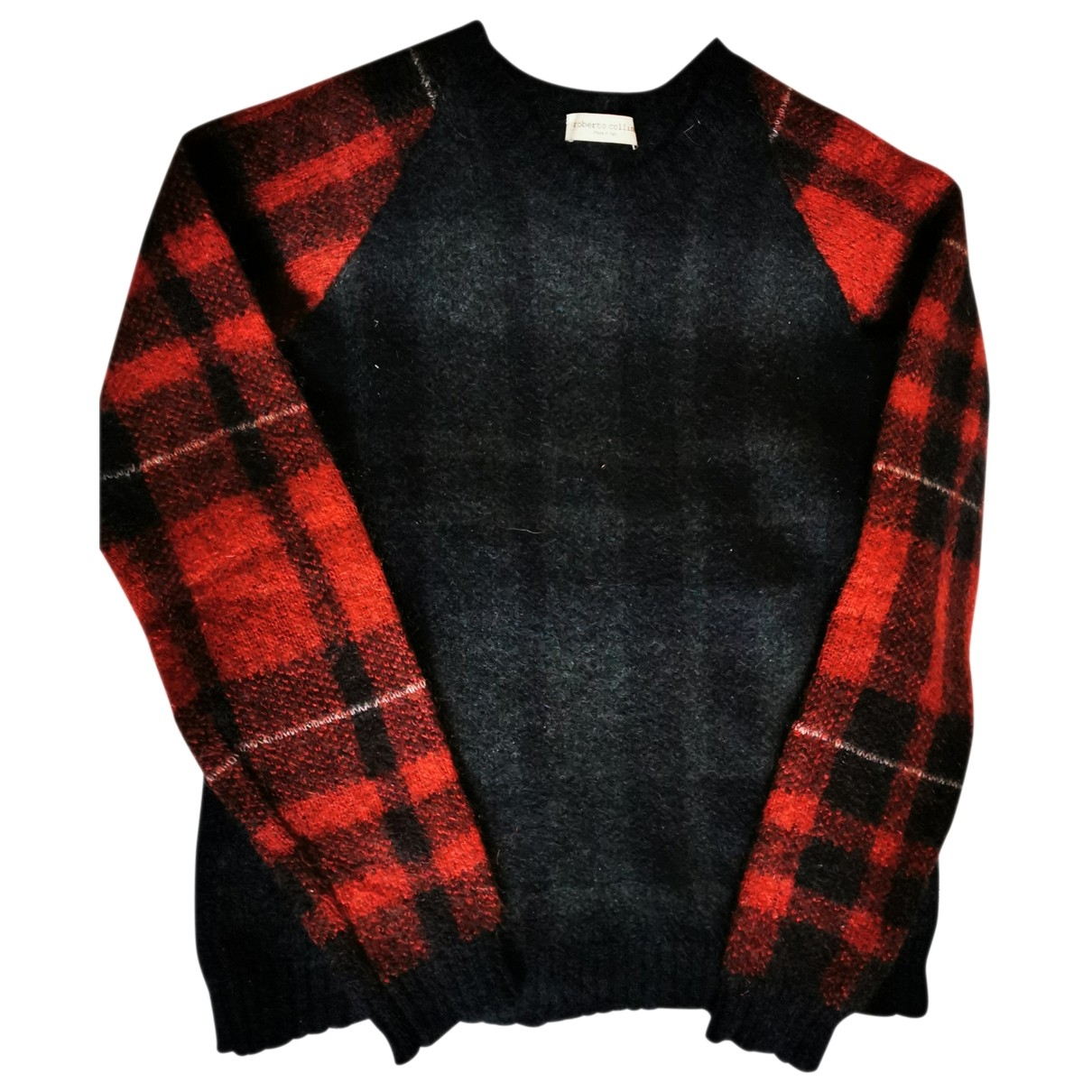 Roberto Collina - Pull   pour femme en laine - noir
