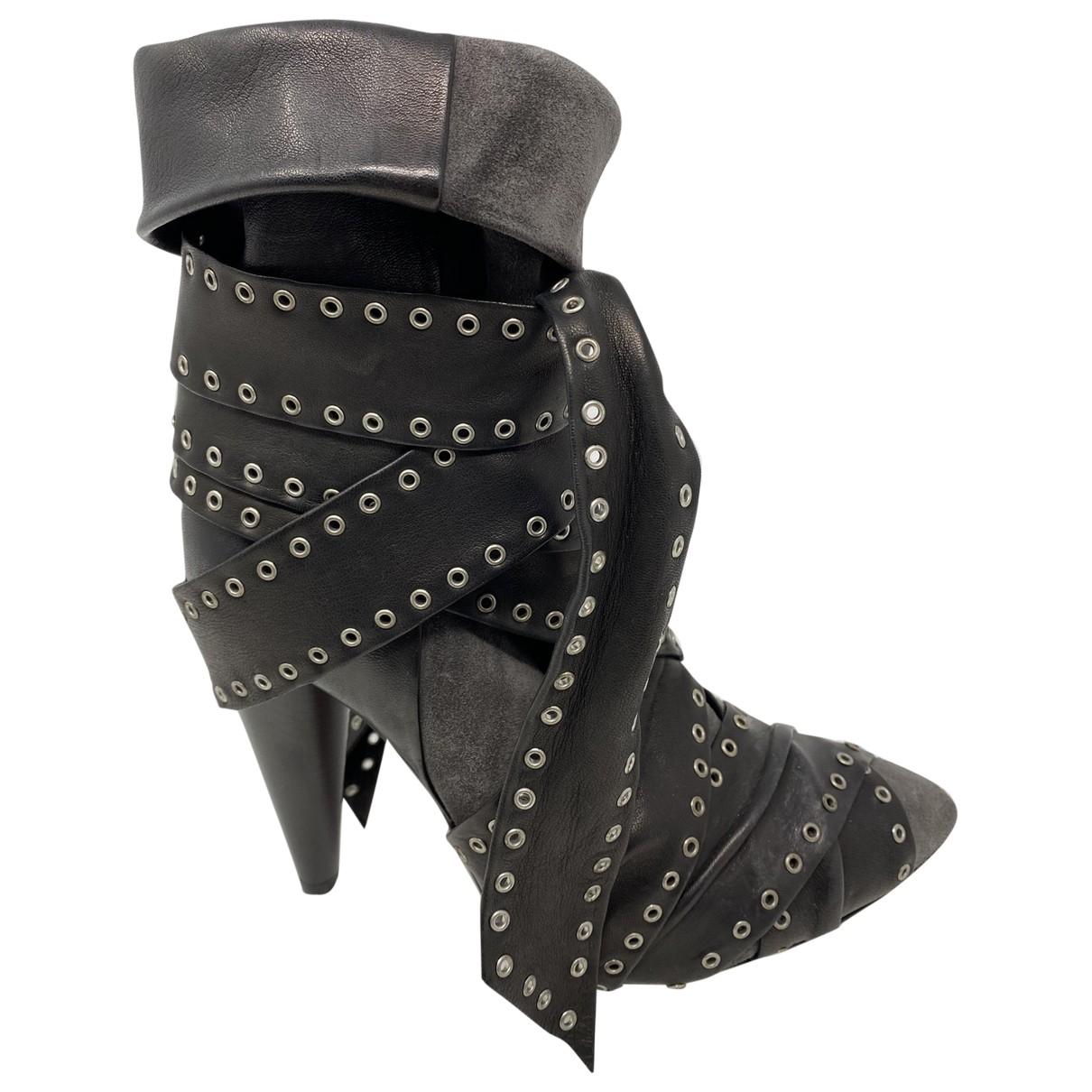 Isabel Marant - Boots   pour femme en cuir - anthracite