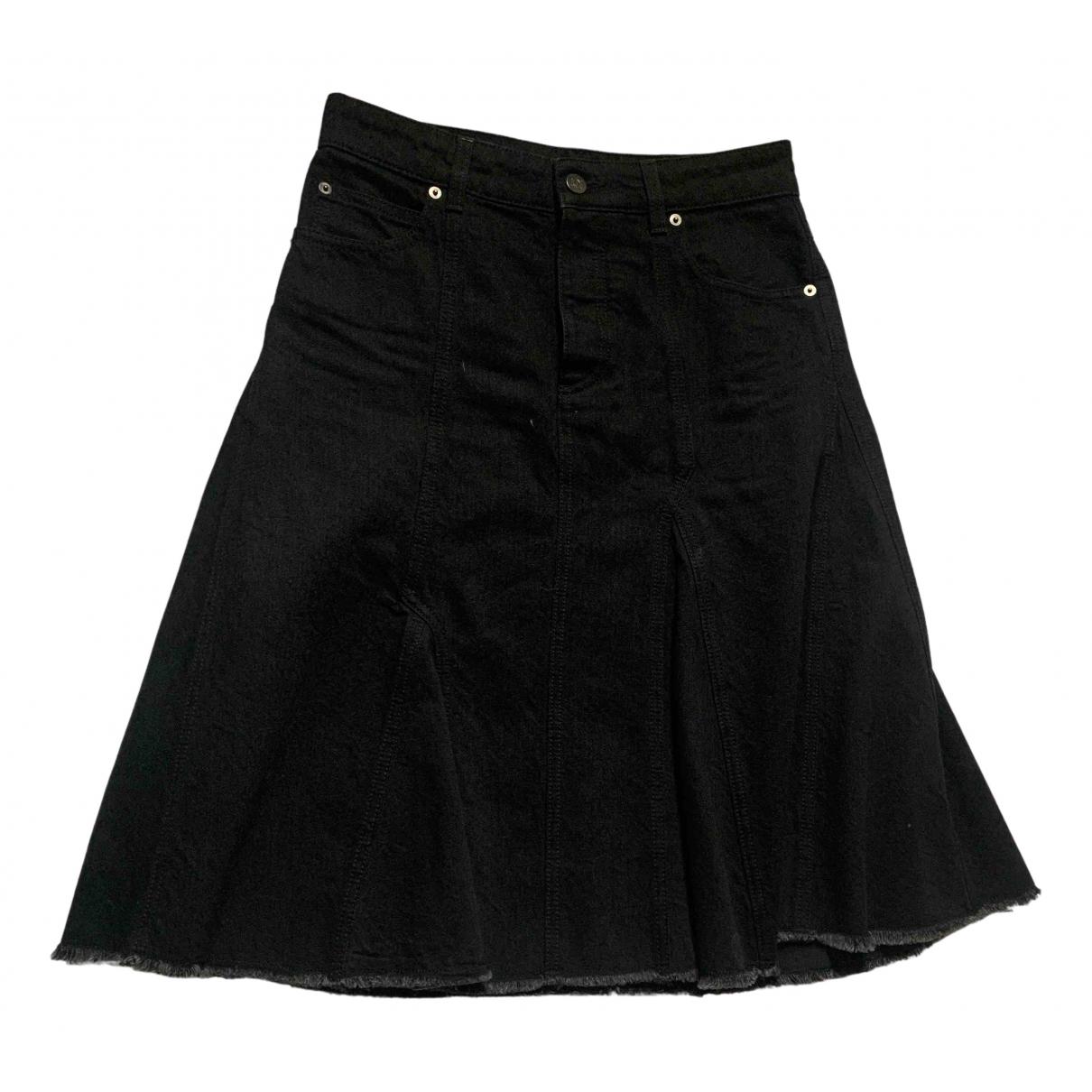Loewe \N Rocke in  Schwarz Denim - Jeans